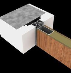 3D detail van deuren zonder omlijsting. De binnendeuren zonder zichtbare omlijstingen van Anyway Doors worden centraal in de wand geïntegreerd.