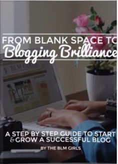 You've thought about starting a blog, now it's time to DO IT! Get this awesome E- Book to help you get started.   http://thecassiebrownproject.com/FromBlankSpaceToBloggingBrilliance