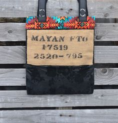 Burlap and Leather Tote Bag  Coffee Burlap Tote  by Liquidshiva, $63.00