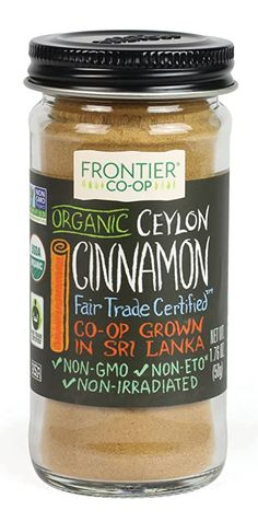 Amazon.com : Frontier CO-OP Ceylon Cinnamon, 1.76 oz : Cinnamon Spices And Herbs Cassia Cinnamon, Ceylon Cinnamon, Cinnamon Chips, Cinnamon Spice, Co Op Food, Stewed Fruit, Simply Organic, Baked Chips, Baking Supplies