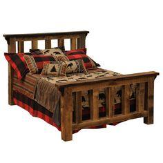 Fireside Lodge Barnwood Post Slat Bed | Wayfair