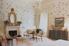 William Haines created a Regency revival-style bedroom for the Reagan's in the 1980's.