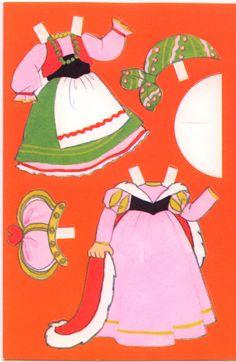 "American Greetings Halloween  ""To Niece"" PAPER DOLL CARD  (HALLOWEEN NIECE 2)"