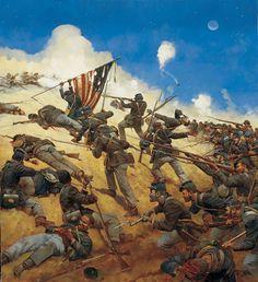 54th Massachusetts Volunteer Infantry Regiment at second battle at Ft. Wagner