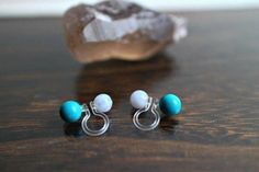 Turquoise Clip OnDouble Sided Clip On Invisible Clip OnNon