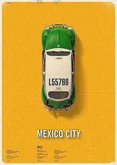 City Cab Poster by Mehmet Gozetlik | TrendLand - Fashion Blog & Trend Magazine