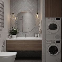 More than just a room, this will be your 5 options of laundry room layout ideas. Transitional, traditional, pet-friendly, and a couple more laundry room design ideas. Modern Bathroom Design, Bathroom Layout, Small Bathroom Decor, Round Mirror Bathroom, Bathroom Interior, Bathroom, Laundry Room Layouts, Bathroom Decor, Room Layout