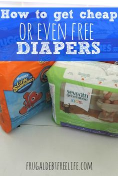 4 ways to get cheap or even free diapers. Diapers are a fact of life when you have small children. And they are an expense that can add up quick if you aren't diaper savvy. Here are some tips and tricks to get cheap or even FREE diapers.
