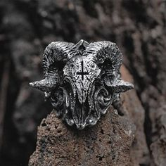Baphomet, Unique Rings, Unique Jewelry, Cheap Rings, Types Of Rings, Stainless Steel Rings, Aliexpress, Fashion Rings, Fashion Fashion
