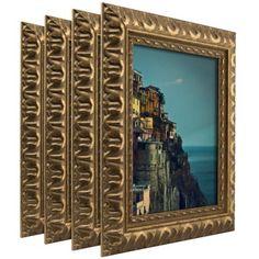 Craig Frames Bravado Ornate Antique Bronze Picture Frame, Set of 4