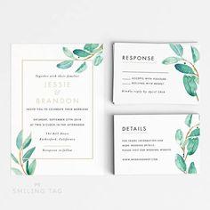 Botanical Wedding Invitation Suite Wedding Invitation