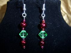 Fun and Pretty Christmas Earrings by knaaccessories on Etsy, $8.00