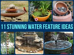 Homemade Water Features | Are you looking for an eye-catching feature for your garden? Why not ...