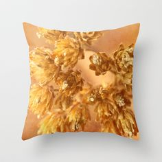 """Dried flowers phot image Throw Pillow by gunadesign - $20.00 Throw Pillow Cover made from 100% spun polyester poplin fabric, a stylish statement that will liven up any room. Individually cut and sewn by hand, the pillow cover measures 16"""" x 16"""", features a double-sided print and is finished with a concealed zipper for ease of care."""