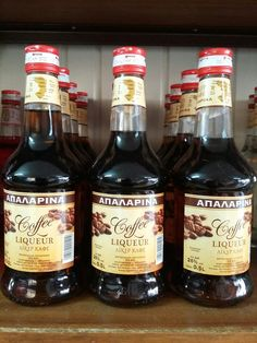 Coffee Liquer Apalarina - Chios Chios, Liqueur, Beer Bottle, Gin, Coffee, Drinks, Food, Drinking, Beverages