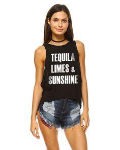 Tequila Limes & Sunshine Tank Top