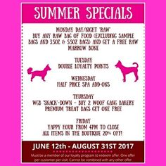 Come check out our summer specials here at Woof Gang Bakery #Aberdeen in #New #Jersey