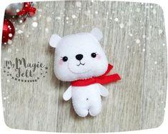 Christmas Ornaments felt Polar Bear ornament Christmas gifts for kids Christmas…