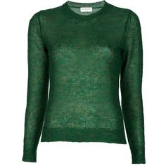 DRIES VAN NOTEN Sweater (8.775 RUB) ❤ liked on Polyvore featuring tops, sweaters, shirts, women, green sweater, ribbed shirt, green shirt, dries van noten and ribbed top