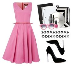 """""""// black · pink //"""" by oriahh ❤ liked on Polyvore featuring Dinks, Marc by Marc Jacobs, Christian Dior, OPI, VIVETTA, MaxMara, Casadei and polyvoreeditorial"""