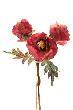 Terial Arts Fabric Oriental Poppies