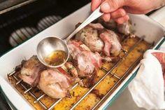 Wachteln, Rebhendl, Fasan Wine Recipes, Pork, Meat, Pheasant, Kale Stir Fry, Pigs, Pork Chops