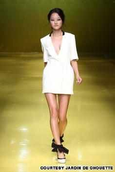 Jardin de Chouette designer Jae Hyun Kim cuts classic garments with a rock n' roll edge.