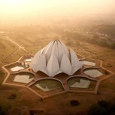 """Lotus Temple in #NewDelhi #India / Drone Photography by Amos Chapple. """"Inspired…"""