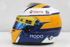 2016 helmet, Marcus Ericsson, Sauber F1 Team. #SauberF1Team #MarcusEricsson #F1 #Formula1 #motorsport #racing
