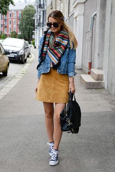 Fall 2015's Most Versatile Trend Is the Suede Skirt: 17 Ways to Style It waysify