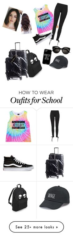 """""""Airport✈️"""" by mkelly5 on Polyvore featuring Puma, CalPak, Vans, Various Projects, SO and Casetify"""