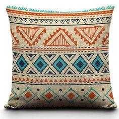 Aztec Indie Boho  Ikat cushion cover by HopIntoTheRabbitHole, $15.99