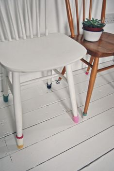 love these little chair leg covers!