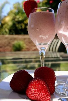 Strawberry Bisque-my recipe out of Royal Caribbean cruise book; serve to out of town guests at end of breakfast!