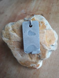 Excited to share the latest addition to my #etsy shop: White Isle of Wight sea glass and concrete necklace-concrete jewellery-sea inspired-beach theme-birthday gift http://etsy.me/2E8QrMi