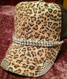 Extreme Bling Cheetah Trucker Hat