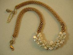 Keisha pearl bead crochet necklace on Etsy, $150.00