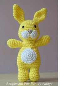 Amigurumi For Fun by Nadya: Sunny Little Rabbit with one piece body, free pattern