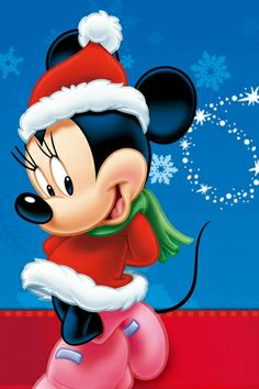 Minnie Mouse Christmas iPhone wallpaper
