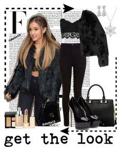 """#GetTheLook - Ariana Grande"" by detta13 ❤ liked on Polyvore featuring Nicki Minaj, Topshop, Miss Selfridge, Altuzarra, MICHAEL Michael Kors, Bobbi Brown Cosmetics, Christian Dior and Tory Burch"