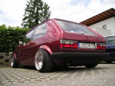 VW MK1 Golf-  A little too much poke for me but the Schmidt rims are dope!  http://motorgrind.com