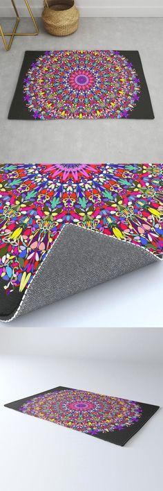 Happy Multicolored Floral Mandala Rug by David Zydd #MandalaRug #BestRugs #Decor #HomeDecorationIdeas #Multicolored #Artwork #RoomDecor #Room #Abstract #Society6 (tags: mandala rug, room, mandala decor, floral mandala, mandala, geometric, home decorating, room decoration, decor, bohemian decoration, home decor, floral, geometrical, hippie, flora, mandala home decor, xmas, interior) Mandala Rug, Mandala Artwork, Mandala Pattern, Mandala Design, Bohemian Decor, Bohemian Room, Mandala Coloring, Sacred Geometry, Cool Rugs