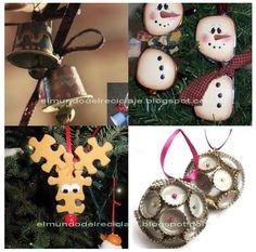 EL MUNDO DEL RECICLAJE: Adornos de Navidad con material reciclado