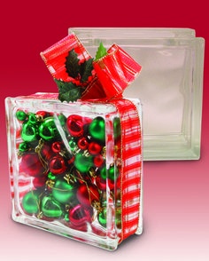 multi use decorative glass block allows you to easily add decorations or lighting on the