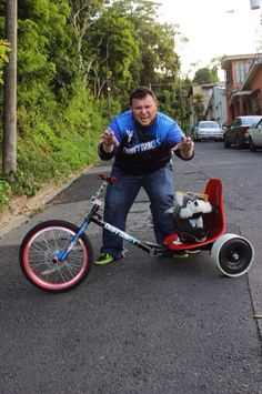 """Alfonso with his """"Monstro"""" trike!!"""