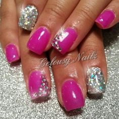 """Using the Gems & Jewels Nail Art Kit, Red Carpet Manicure gives you all the tools to create the perfect """"Shimmer & Shine"""" effect design with our LED Gel Polish. Description from pinterest.com. I searched for this on bing.com/images"""