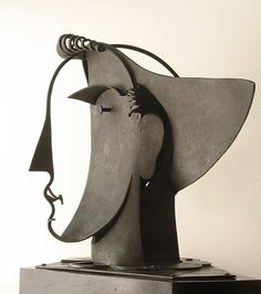 """Archivo: Pablo Gargallo """"Tête d'Arlequin, II"""" cuivre 1929 © Archivo P. Gargallo.jpg"""