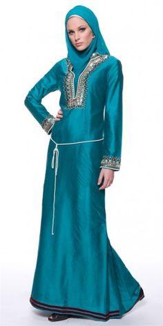 Hijab Chic Robes Soirées Pour Femmes Voilées Et Voile Mode