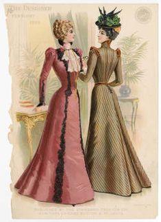 Women 1897-1899, Plate 066 :: Costume Institute Fashion Plates
