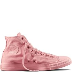Chuck Taylor All Star Mono Rose aube Converse All Star, Converse Rose, Converse Chuck Taylor, Sock Shoes, Cute Shoes, Me Too Shoes, Shoe Boots, Shoe Bag, Jouer Au Basket